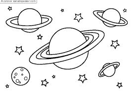 Coloriage Planètes et étoiles  Sans Dépasser