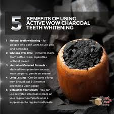 new activated coconut charcoal powder natural teeth whitening