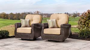 Patio Furniture With Swivel Chairs by Breckenridge Swivel Rocker 2 Piece Patio Furniture Set Natural
