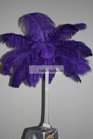 purple ostrich feather plumes feather plume palm tree centerpieces