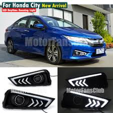 led daytime running light fog lamp drl for honda city 2014 2016
