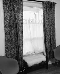 decorating interesting ikea window treatments with dark curtain