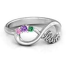 three infinity ring with accents anniversaries and ring