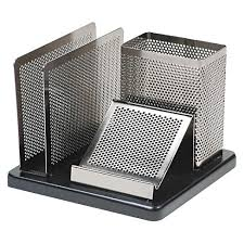 Rolodex Desk Accessories Rolodex Distinctions Desk Organizer 5 7 8 X 5 7 8 X 4 1 2 Metal