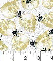 joanns halloween fabric halloween cotton fabric skulls and spiders cotton fabric skulls