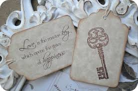 wedding quotes key quote skeleton key bridal wedding favor tags vintage