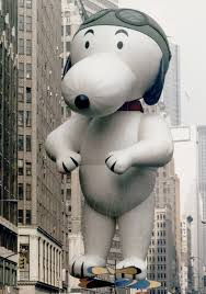 the snoopy balloon has had a few makeovers since he took
