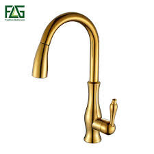popular gold kitchen pull out faucet buy cheap gold kitchen pull