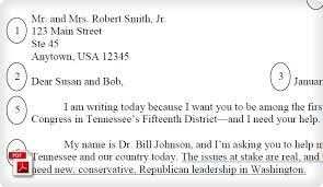 political campaign fundraising letter example political