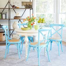 chair colorful tables teal table from moon trading best painted