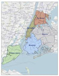 New York Map Districts by Fdny Statistics
