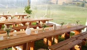 Picnic Bench Hire Wooden Table Hire Queenstown Nz Tinker Tables