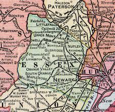 map of essex county nj essex county jersey 1905 map newark east orange millburn