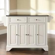 modren white portable kitchen island granite top with design
