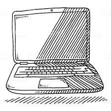laptop sketch drawing