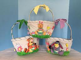 easter baskets for sale plush easter baskets winnie the pooh eeyore tigger vintage