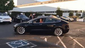 tesla model 3 video of first production tesla model 3 gives best view yet the