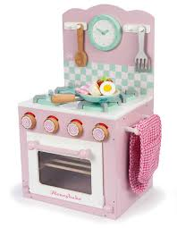 le toy van honeybake pink oven and hob set kids wooden kitchen