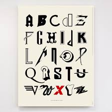 awesome alphabet posters made from classic and alternative rock