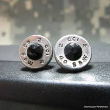 bullet stud earrings caliber jet black bullet stud earrings