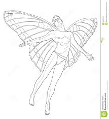 fairy man coloring page stock illustration image 40622791