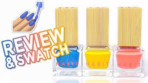 vegan cruelty free healthy polishes habit cosmetics swatches