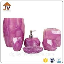 purple bathroom sets beautiful purple bathroom accessories sets for clear poly resin