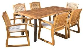 Acacia Wood Dining Room Furniture Outdoor Kitchen Table Bay Acacia Wood Dining Table Teak Craftsman