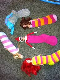 elf on the shelf slumber party with the ladies would work with