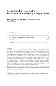 writing an introduction for a research paper conducting a literature review the example of sustainability in research methodologies in supply chain management research methodologies in supply chain management