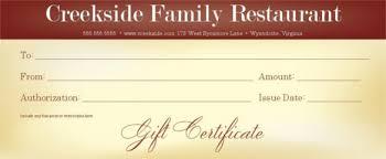 restaurant gift card 20 restaurant gift certificate templates free sle exle