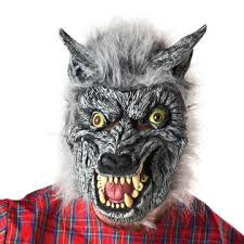 totally ghoul men grey wolf halloween costume size one size fits most