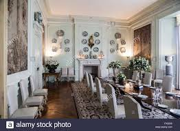 leeds castle dining room kent england stock photo royalty free