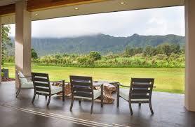 Outdoor Lanai by A Modern Marvel On Kauai U0027s North Shore Hawaii Real Estate Market