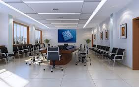 fancy inspiring office room design which is implemented with two