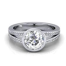split band engagement rings custom bezel split shank engagement ring reserved gerry the