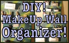 Hanging Wall Organizer Diy Makeup Wall Organizer Youtube