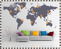 Wall Decals Amazon by World Map Wall Sticker Amazon World Map Wall Decal With Pins