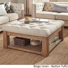 Button Tufted Ottoman Best 25 Square Ottoman Coffee Table Ideas On Pinterest Tufted For