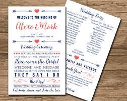 Wedding Program Order Wedding Program Ceremony Program Order Of Events Wedding