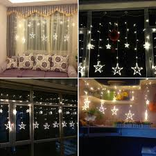 Decorative Garlands Home Aliexpress Com Buy Plug In Star Led Night String Lights Home