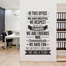 office decorations office decor typography wall art sticker in this office for