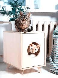 marvelous cat litter ottoman picture corner box furniture small