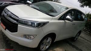 toyota white car toyota innova crysta auto expo 2016 page 39 team bhp