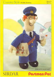 sirdar postman pat toy doll designed by alan dart knitting pattern
