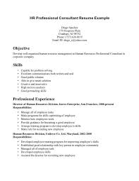 sample experienced hr professional consultant resume sample