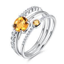 november birthstone jewelry citrine rings sterling silver november birthstone yellow stone