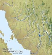 map of the rivers of northern sonora mexico wild sonora