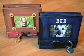 dog photo albums using a dog collar as a scrapbook fastener chica and jo