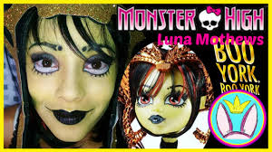 Monster High Halloween Dress Up by Monster High Boo York Boo York Luna Mothews Makeup Tutorial
